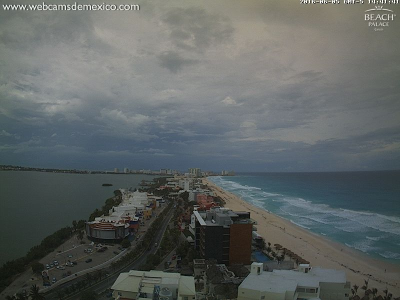 Beach Palace Webcam Cancun recording approach of TD#3 (June 2016)