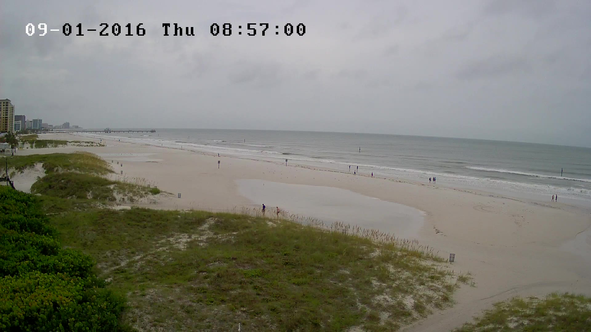 Clearwater Beach Webcam recording approach of Hermine (2016)