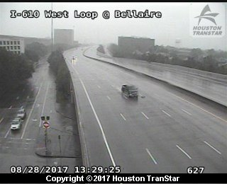 IH-610 West Loop at BELLAIRE (Harvey 2017)