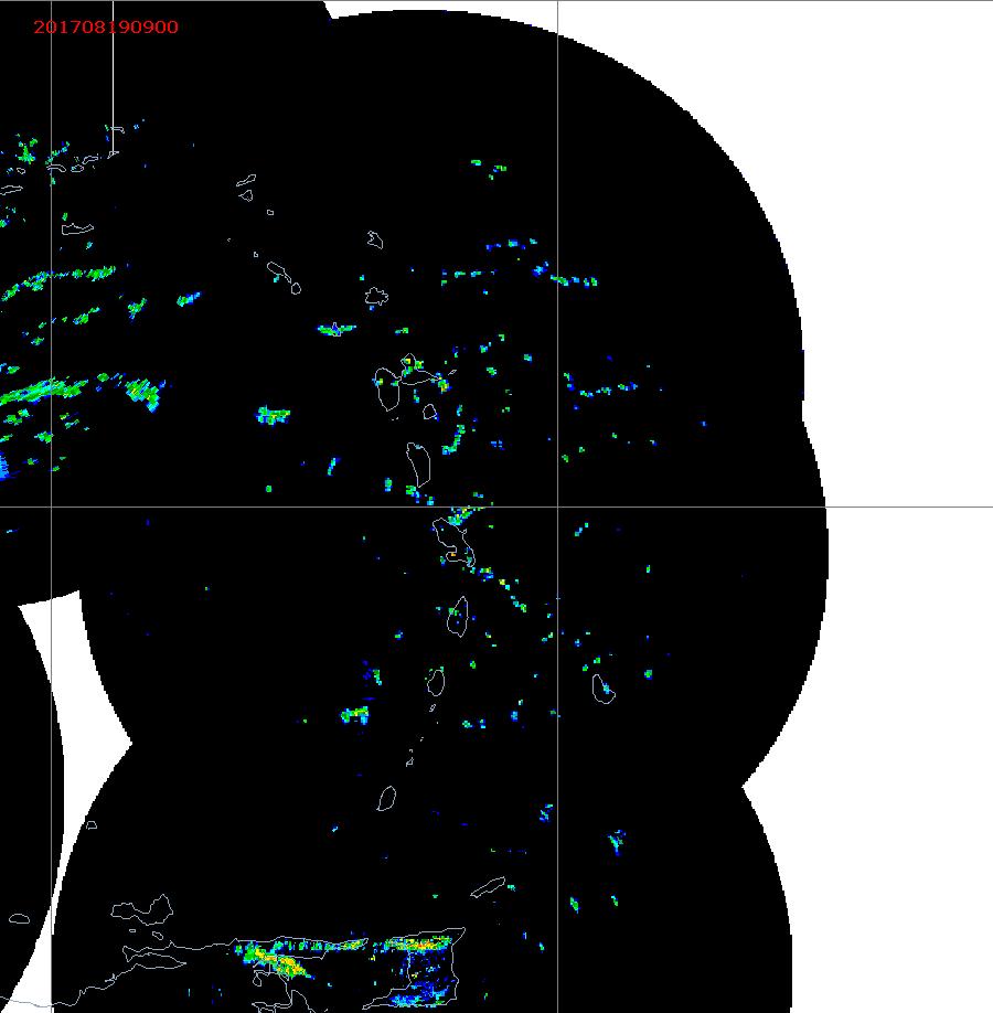 Barbados Weather E. Caribbean Radar Mosaic Animation for Harvey (2017)