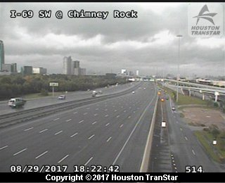IH-45 Gulf at West Dallas (Harvey 2017)