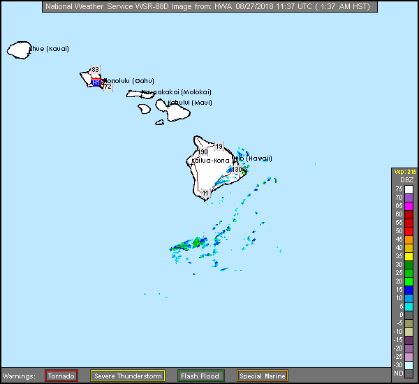 South Shore Big Island, HI Long Range Radar Recording of Lane (2018) Approach